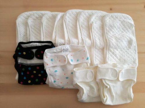 洗濯済みの布オムツ