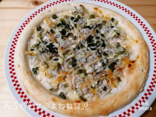 しらすと海苔のピザ