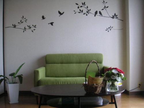 緑色のソファ