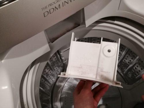 洗濯機の洗剤ポケット