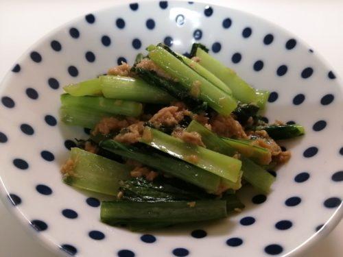 コウケンテツレシピ小松菜とツナの炒め物