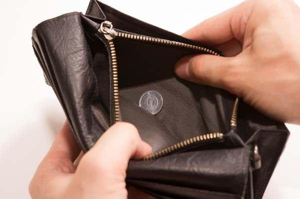 お金のない財布