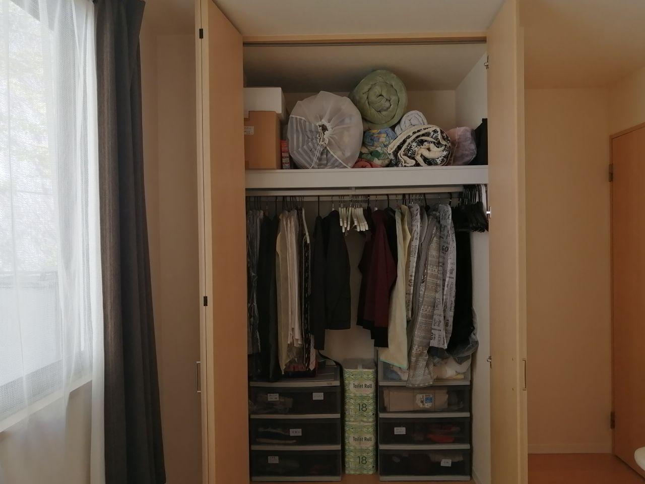 押し入れが無い部屋の布団収納